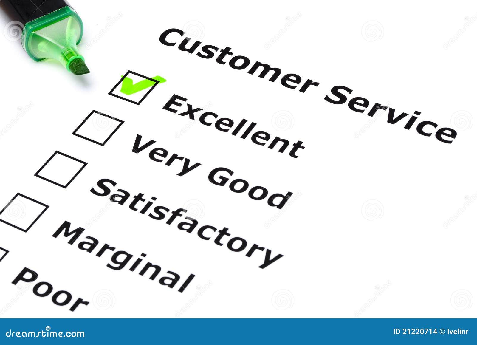 Encuesta sobre el servicio de atención al cliente