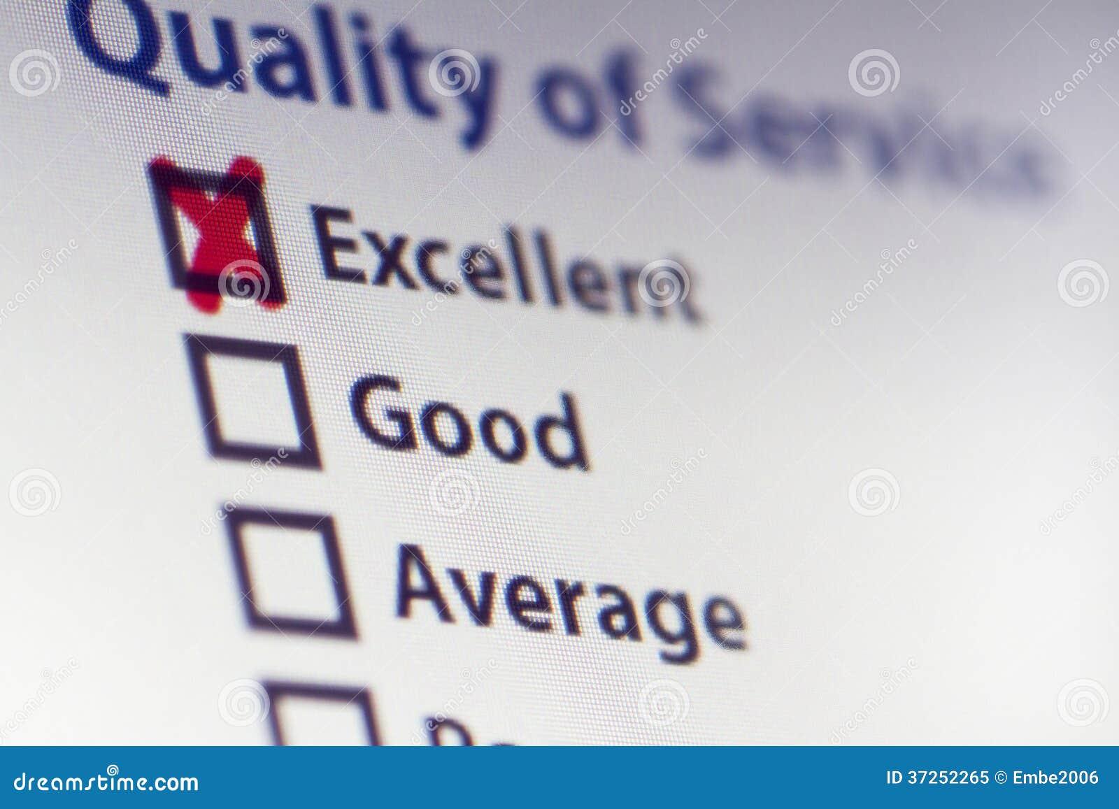 Encuesta sobre servicio de calidad
