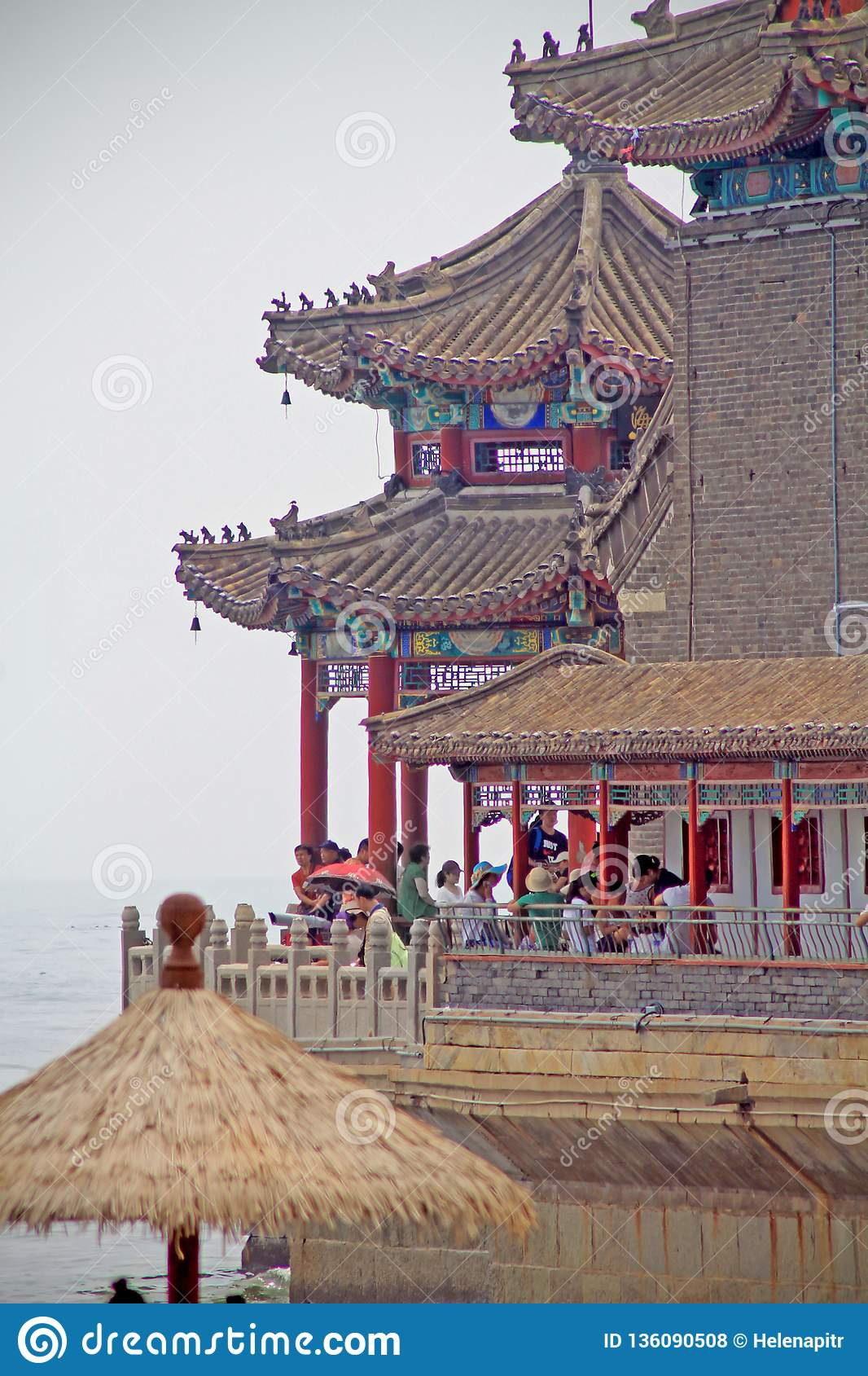 The end of a Chinese pier