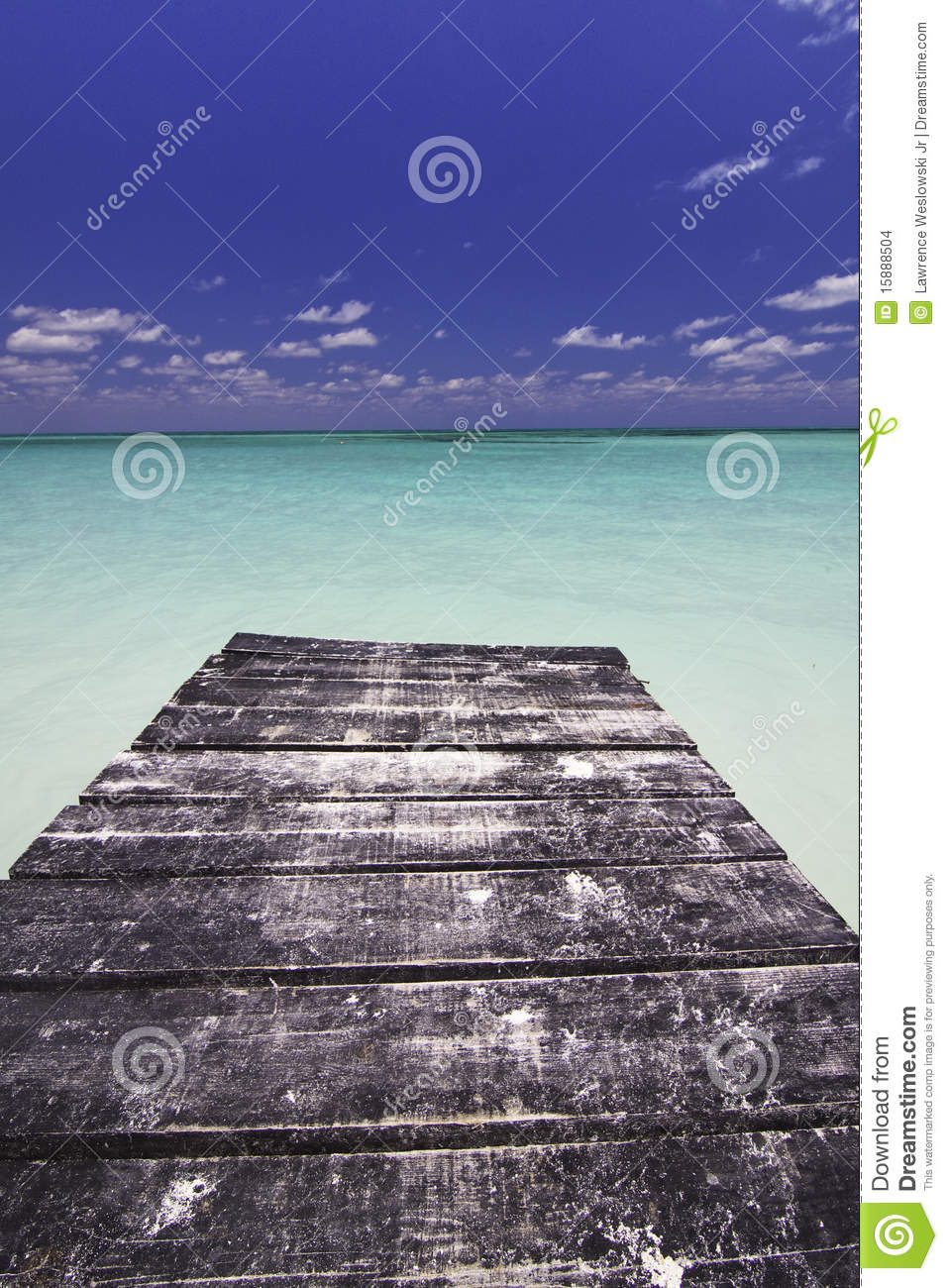 End of the Dock in Paradise