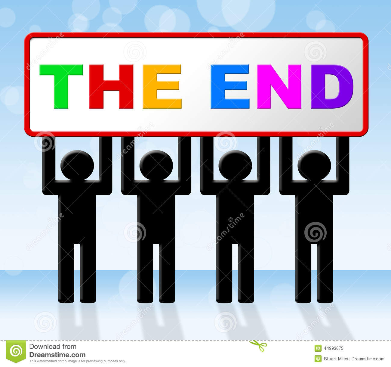 The End Means Final Expiration And Conclusion Stock Illustration ...