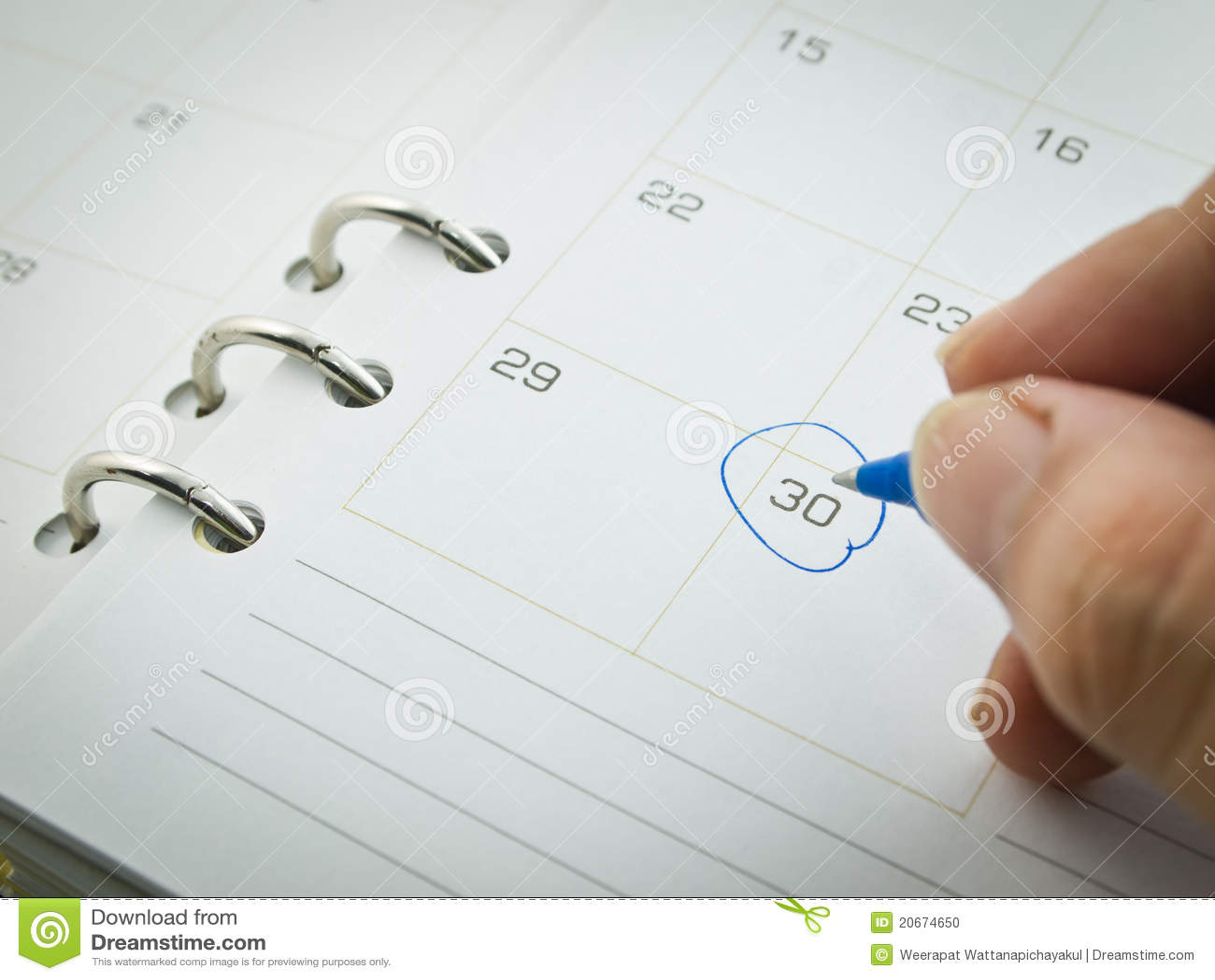 Wooden Date Calendar | Calendar Template 2016