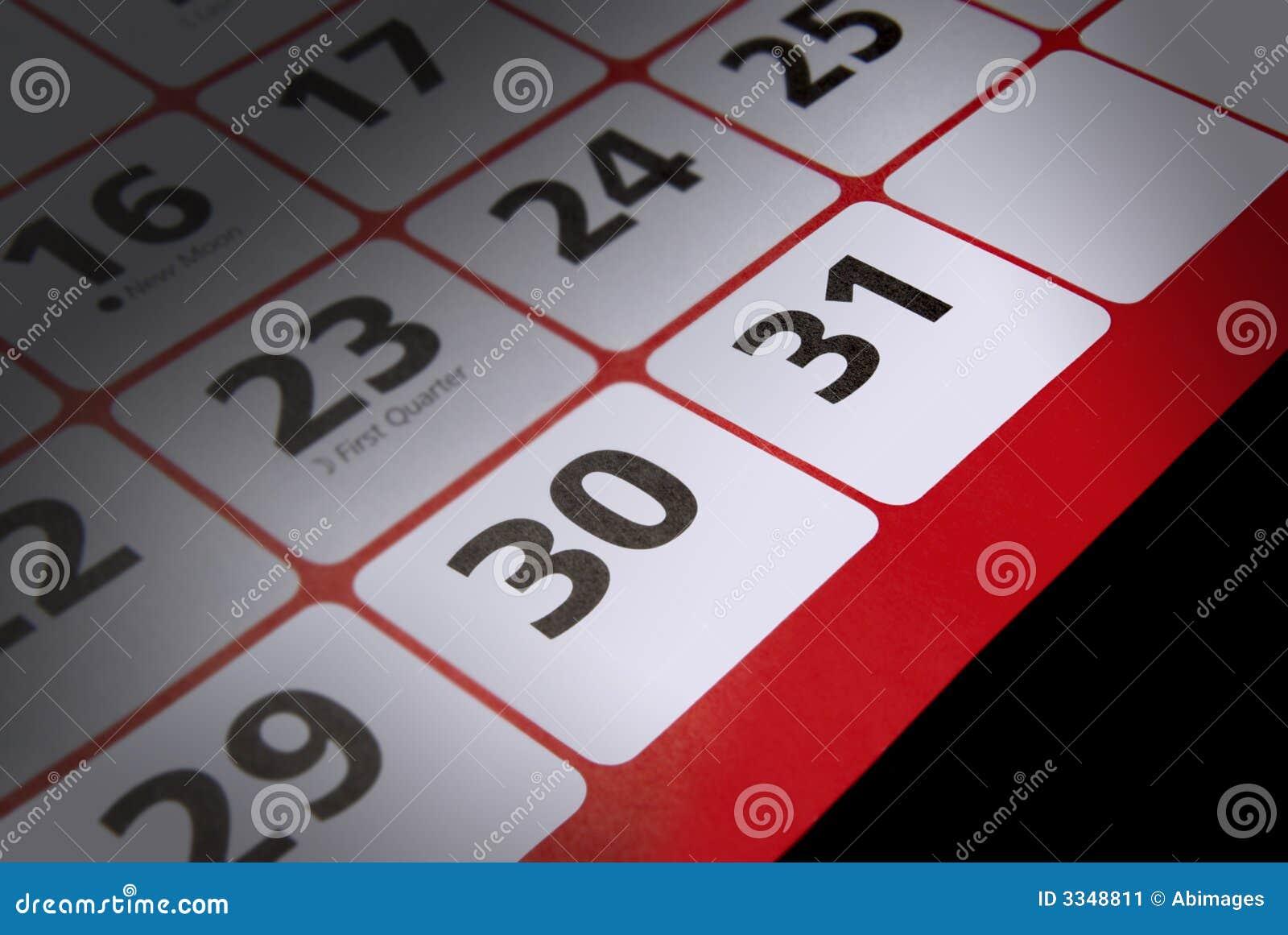 End of month deadline