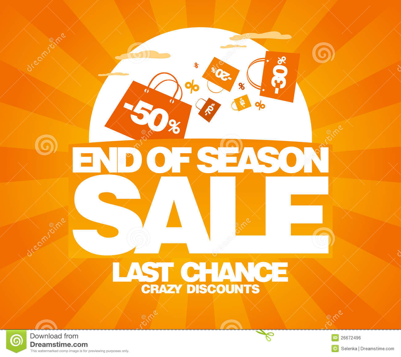 End Of Season Sale Design Template Royalty Free Stock