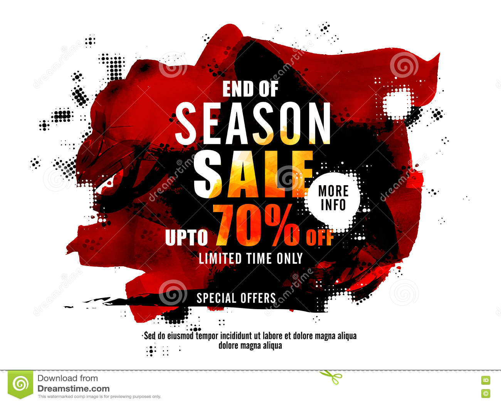 End Of Season Sale Poster Banner Or Flyer Design Stock Illustration Illustration Of Business Abstract 72944979