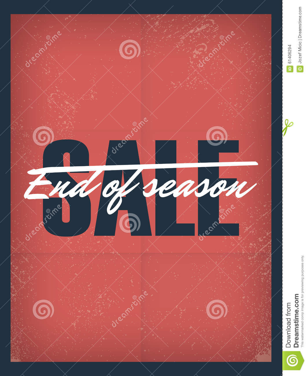 end of season sale poster template discounts and stock vector