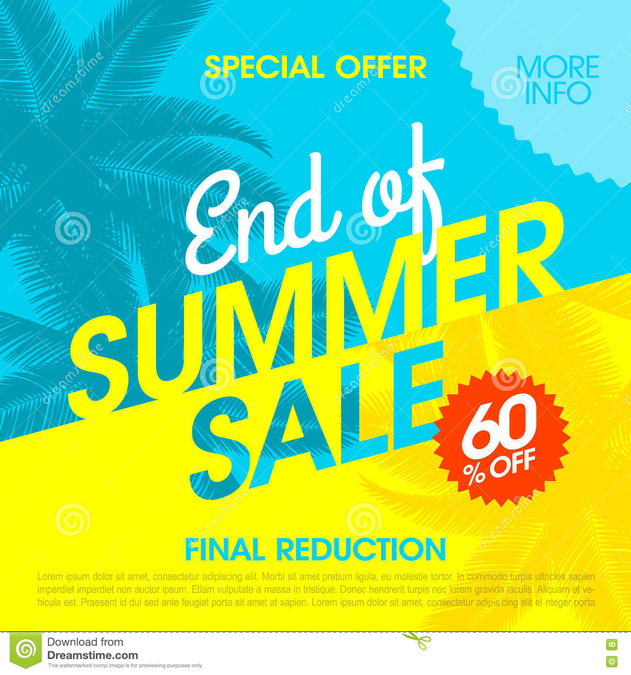End Of Summer Sale banner stock image. Image of clearance ...