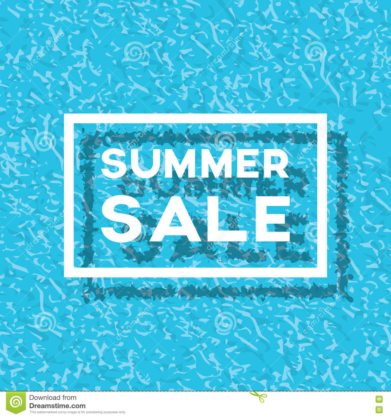 End Of Summer Sale With Text And Swimming Pool Vector ...