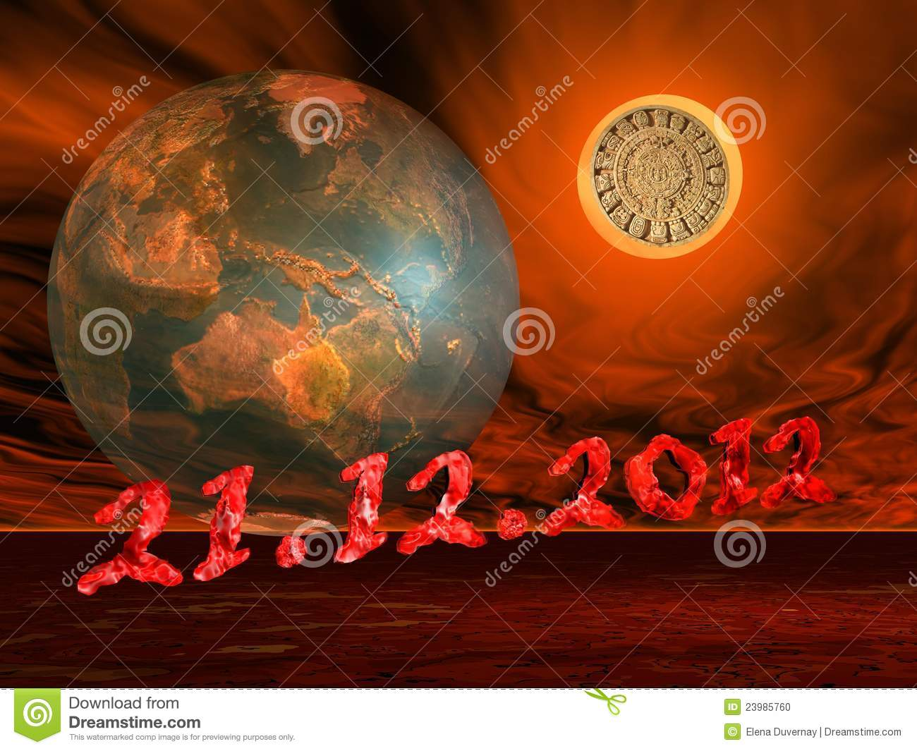 End of the world s maya prophecy
