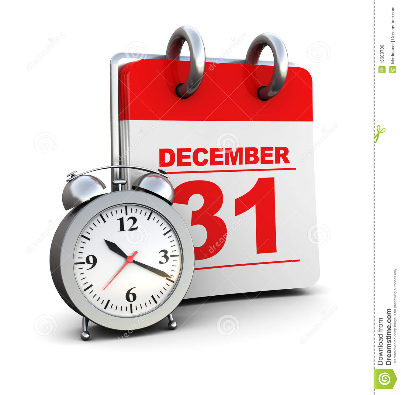Calendar Year End : End of year stock photo image