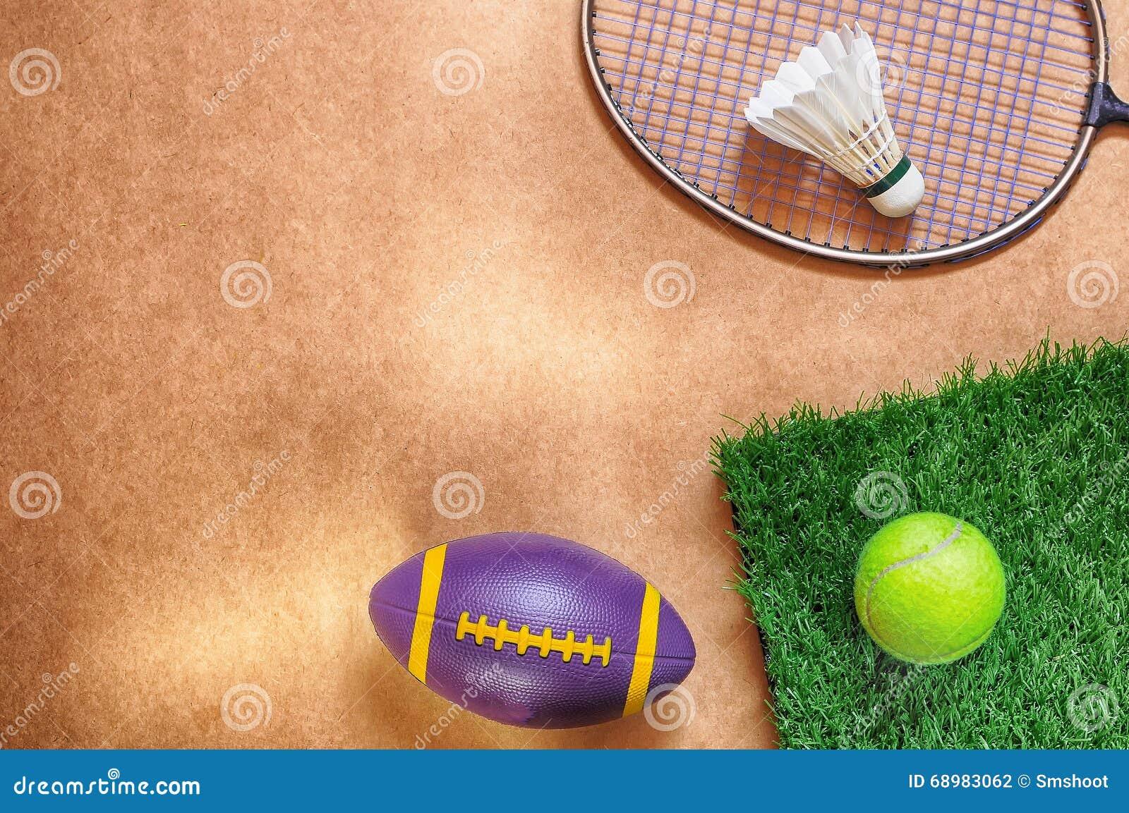 Endecha plana en fondo de los deportes