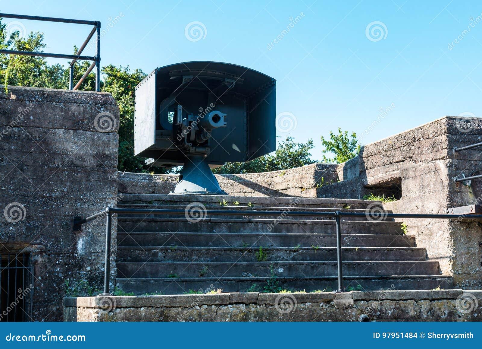 Endicott-era Kanon bij Batterij Irwin bij Fort Monroe