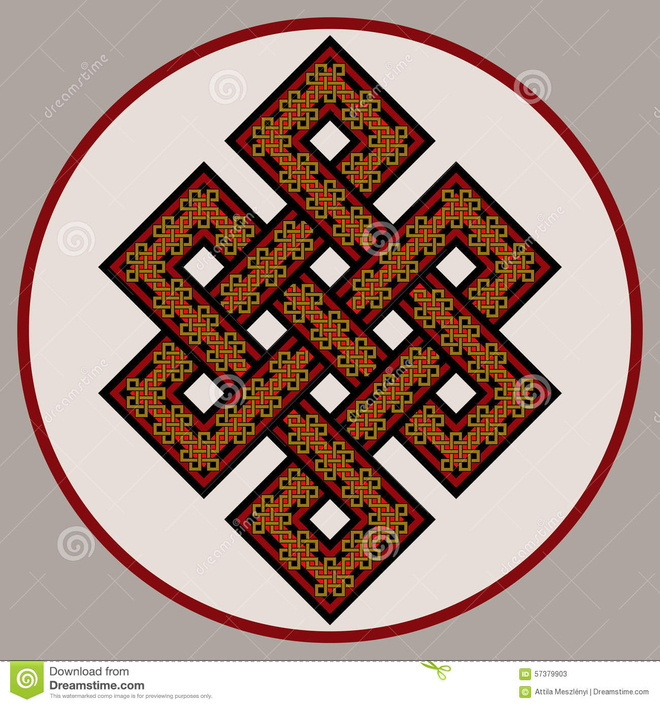 The Endless Knot Ornate Stock Vector Illustration Of Ancient