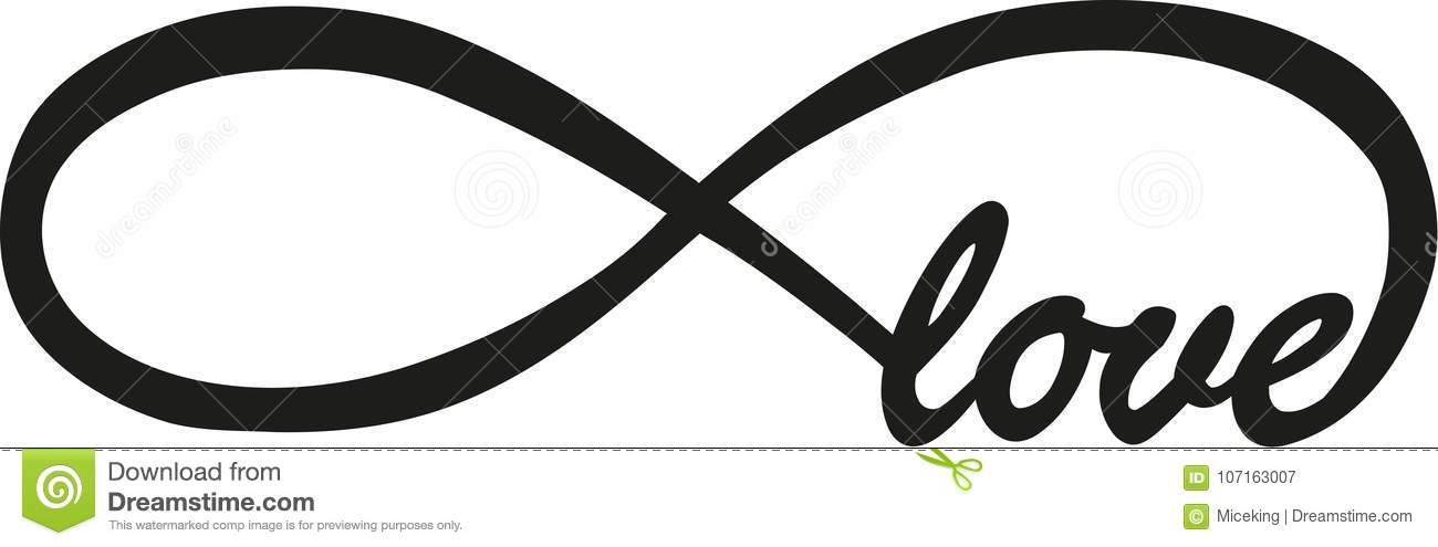 Endless Love With Infinity Sign Stock Vector Illustration Of Logo