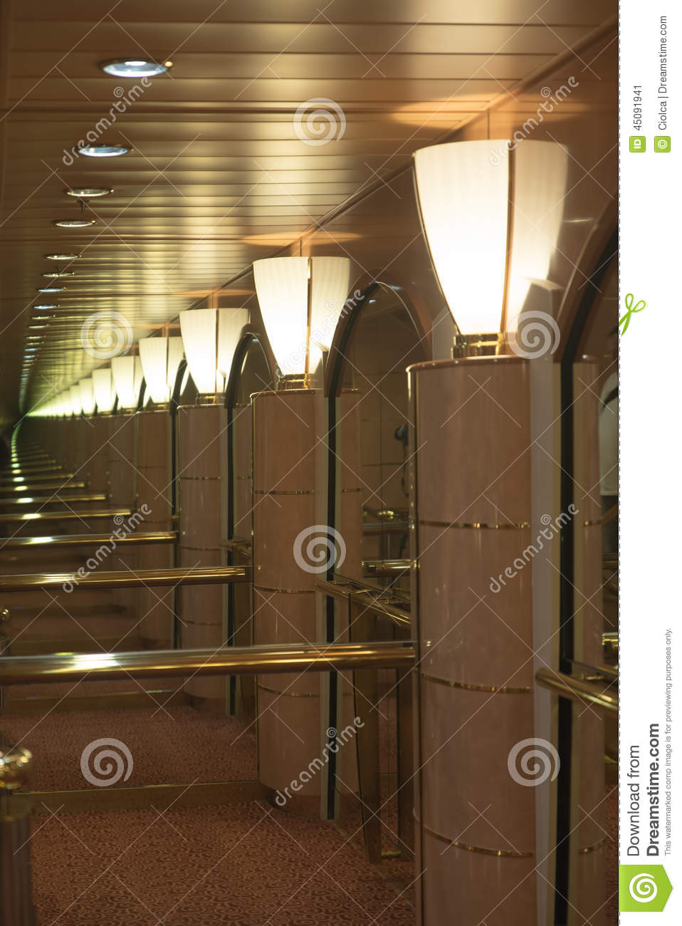 Endless Mirror Stock Image Image Of Entrance Lamp