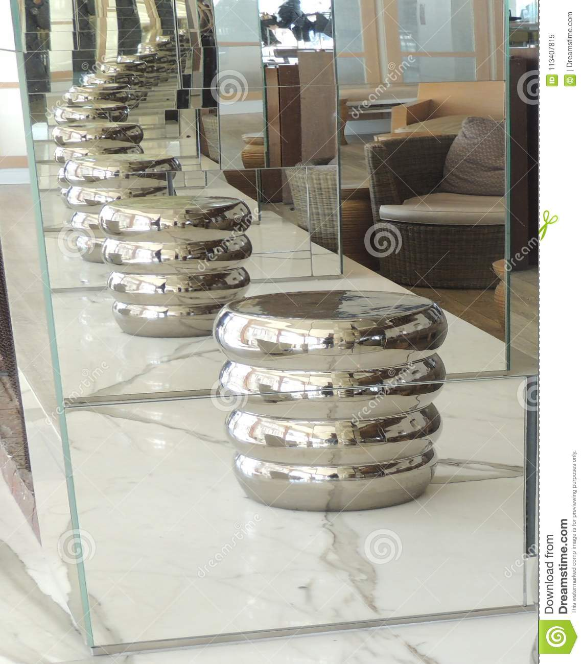 endless mirrors go on forever stock image image of great mirror