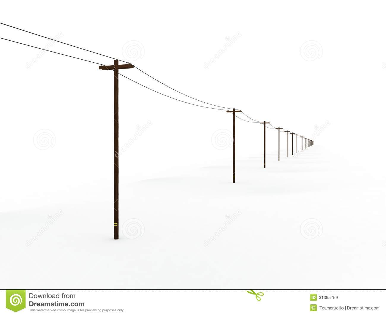 Wiring A Telephone Line Free Diagram For You Connection Endless Power Poles Stock Illustration Image Of Charge Phone