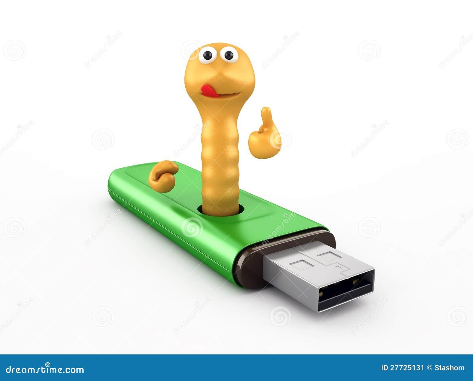 Endlosschraube im USB-Blinkenlaufwerk