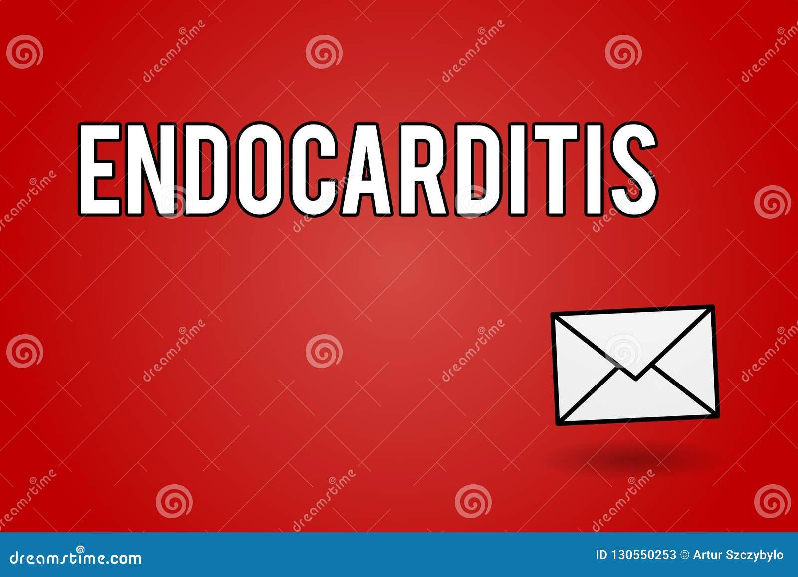 Endocardite Des Textes D'écriture Concept Signifiant L ...