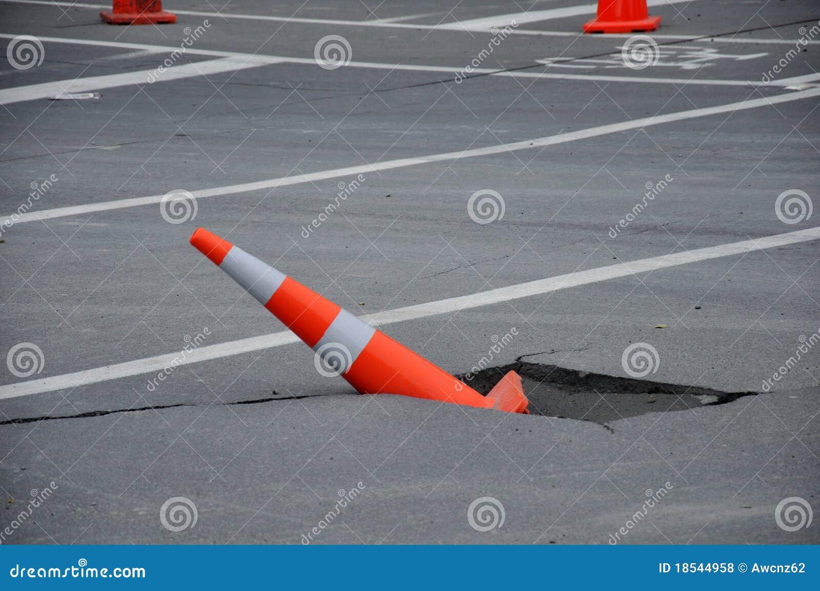 Endommagement de routes type
