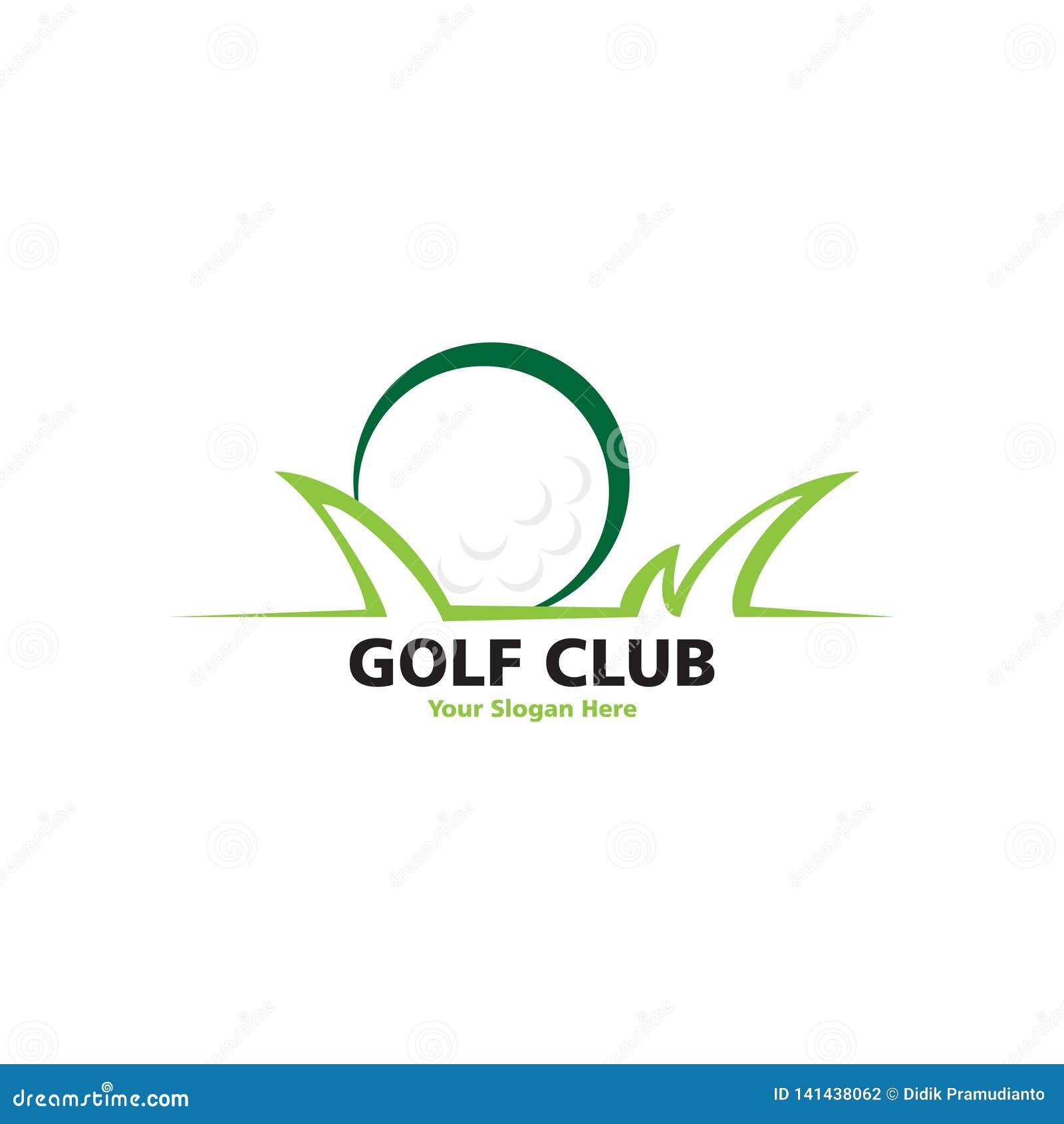 Endroit de golf avec le logo d herbe