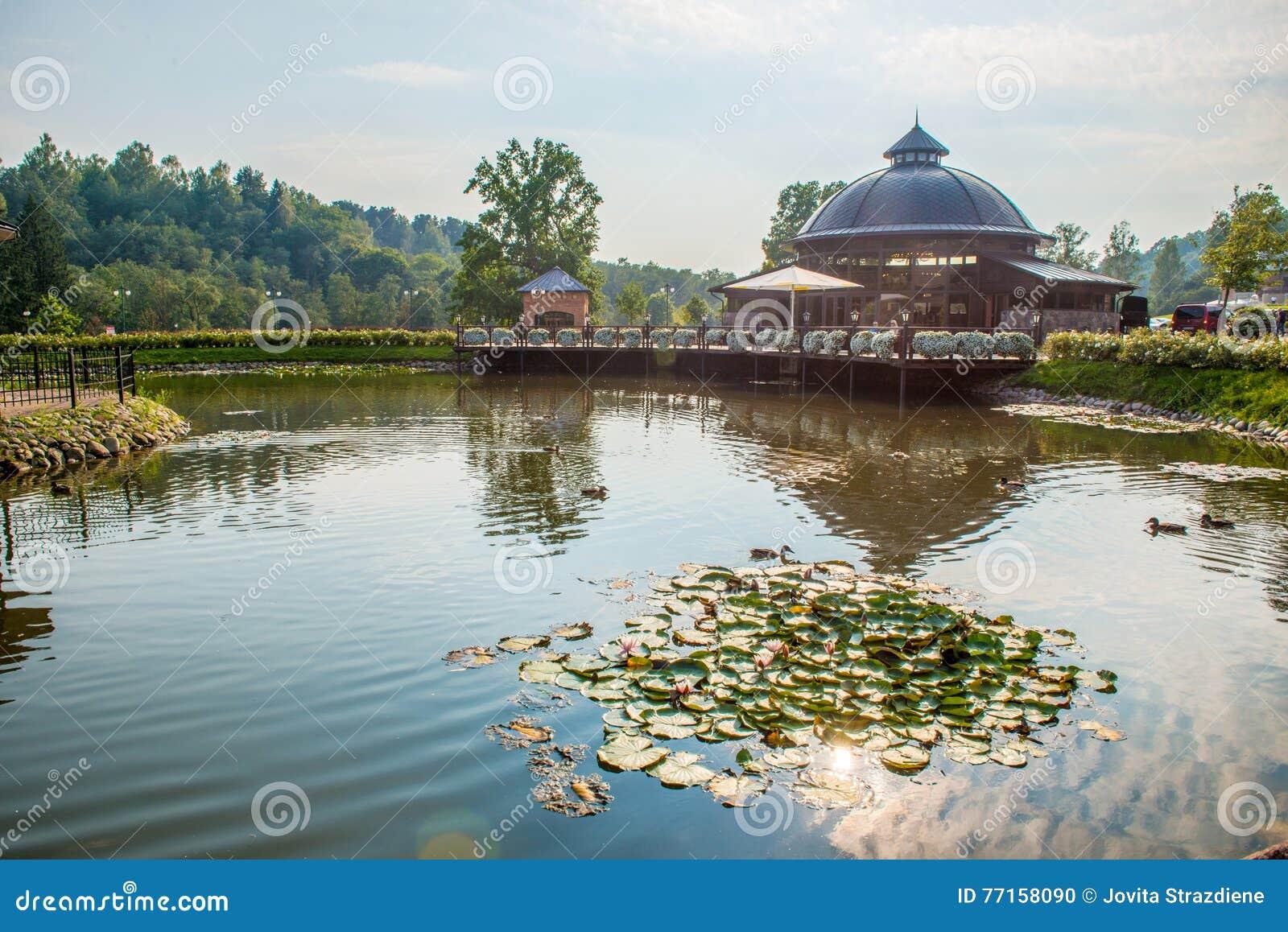 Endroit de visite de parc de Belmontas à Vilnius