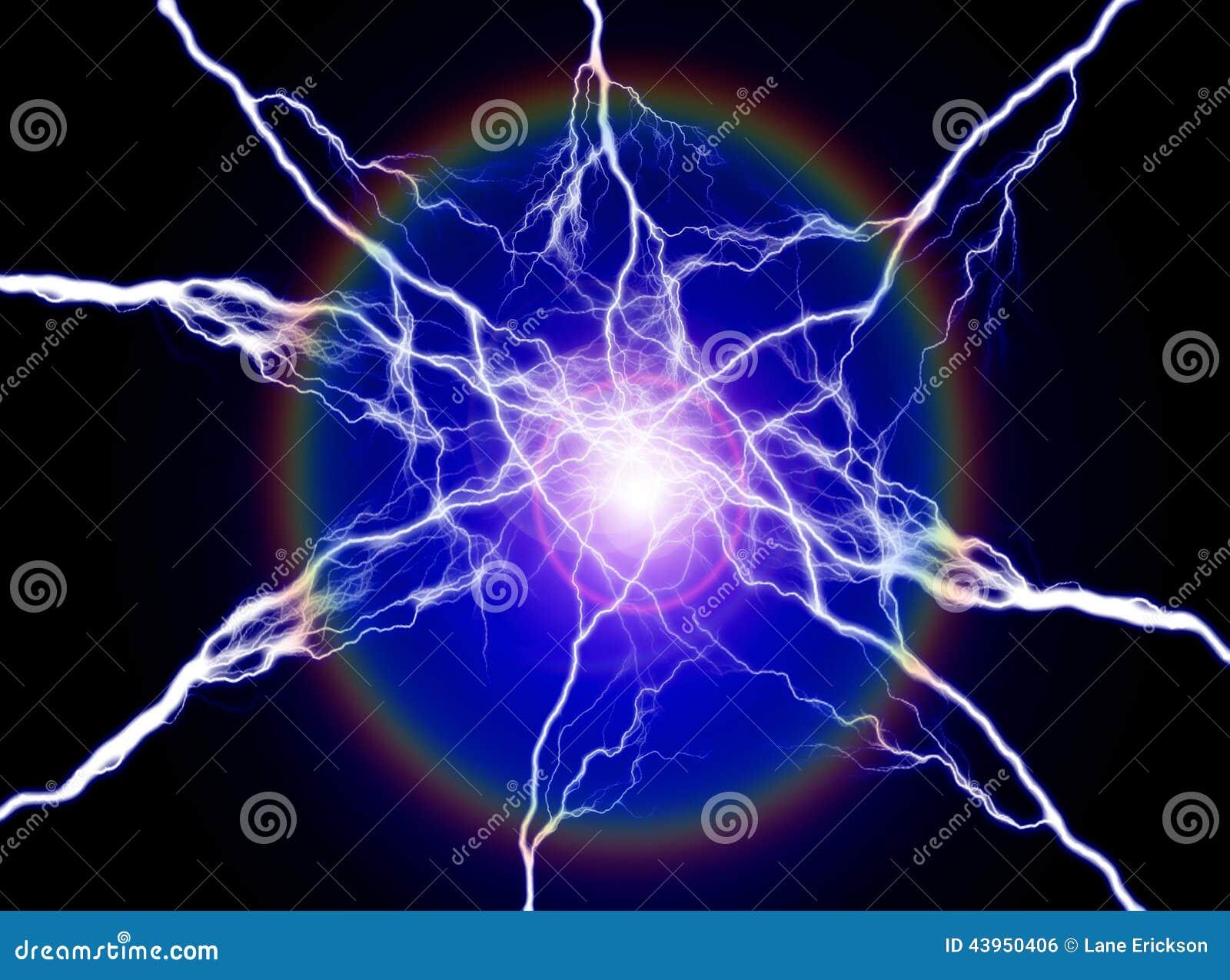 Energ a pura y electricidad que simbolizan poder foto de for Electricidad