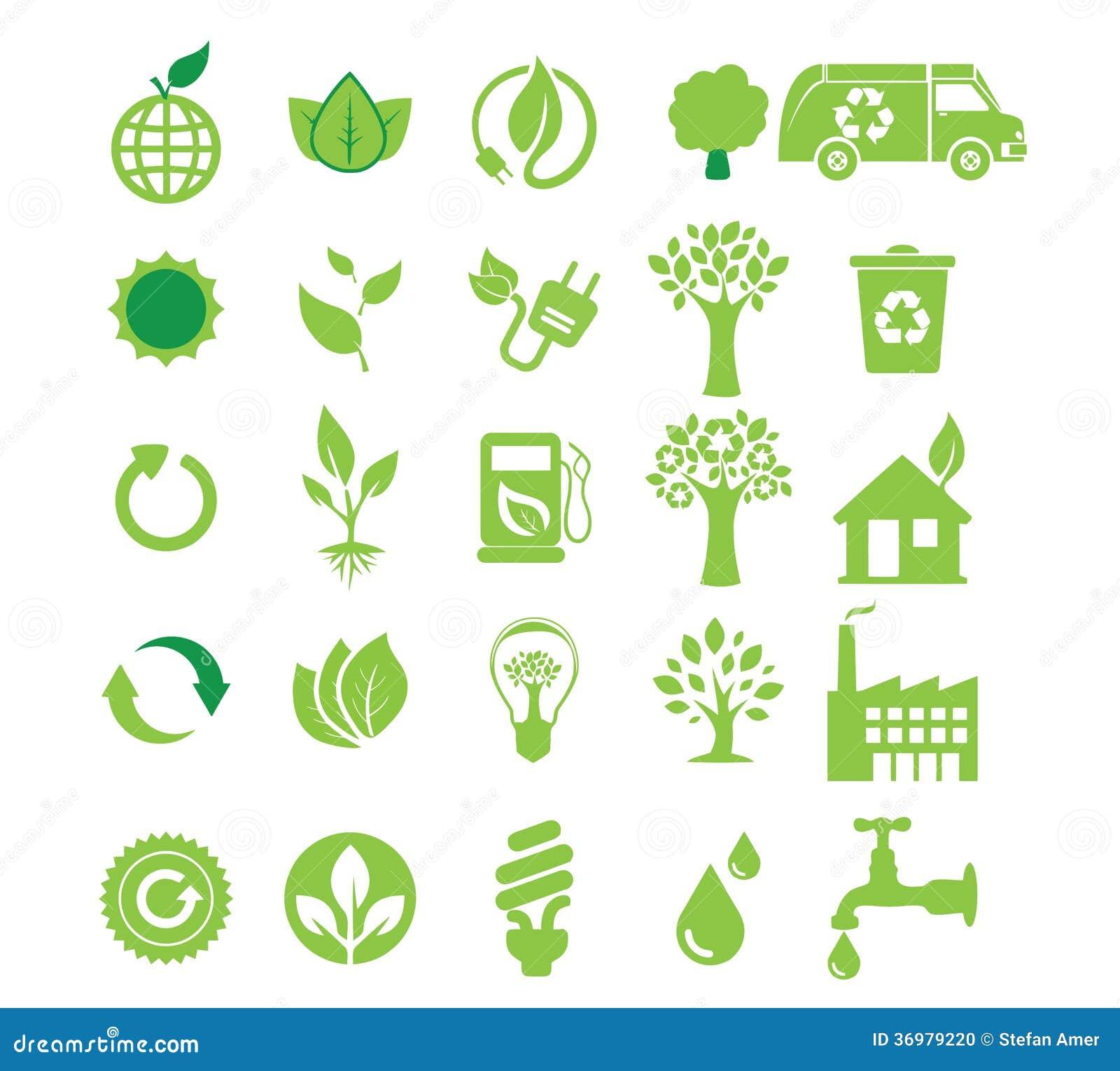 Energía verde, sistema del icono
