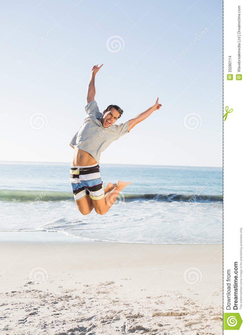 2094d90df15 Energetic Handsome Man Jumping Stock Photo - Image of male ...