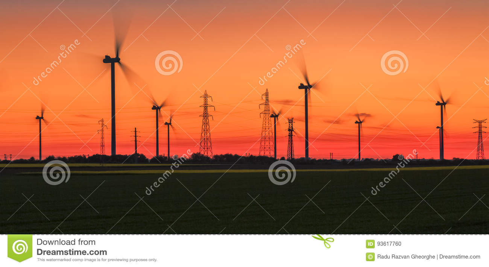 Energetic Sunset - Wind Energy