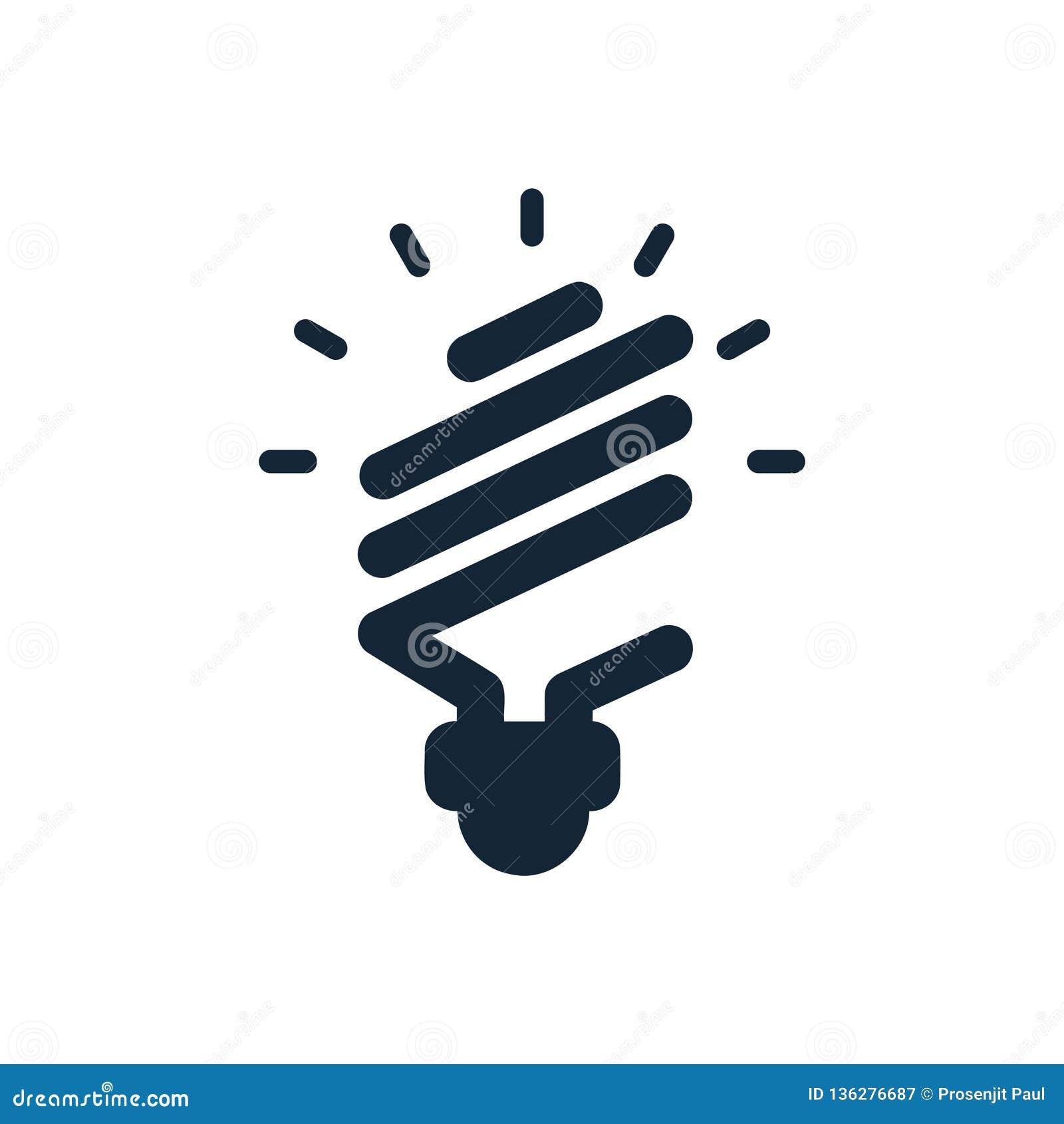 Energetyczna żarówki ikona