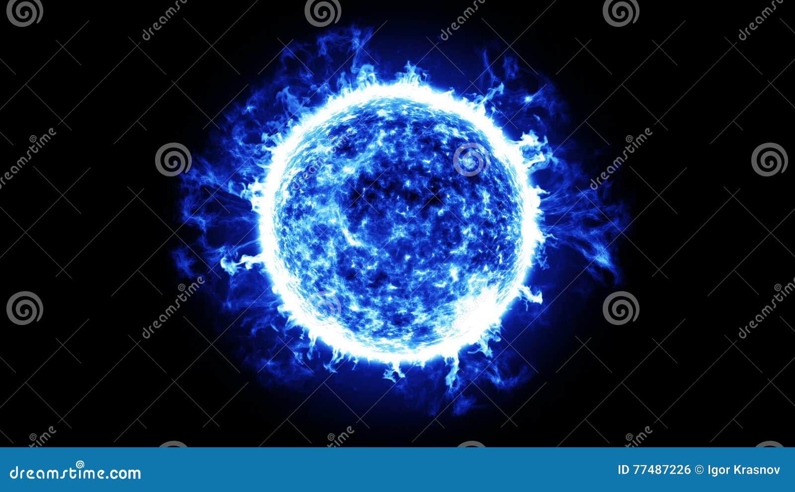 Energia Della Stella Blu Hd 1080 Animazione Avvolta Stock Footage