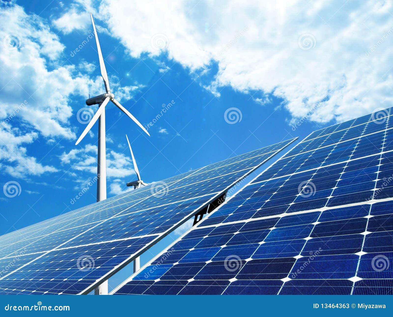 Energia solar e de vento