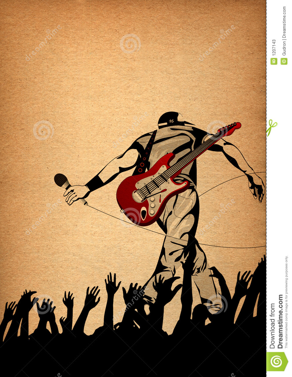 Energic live performance on the stage,conceptual illustration
