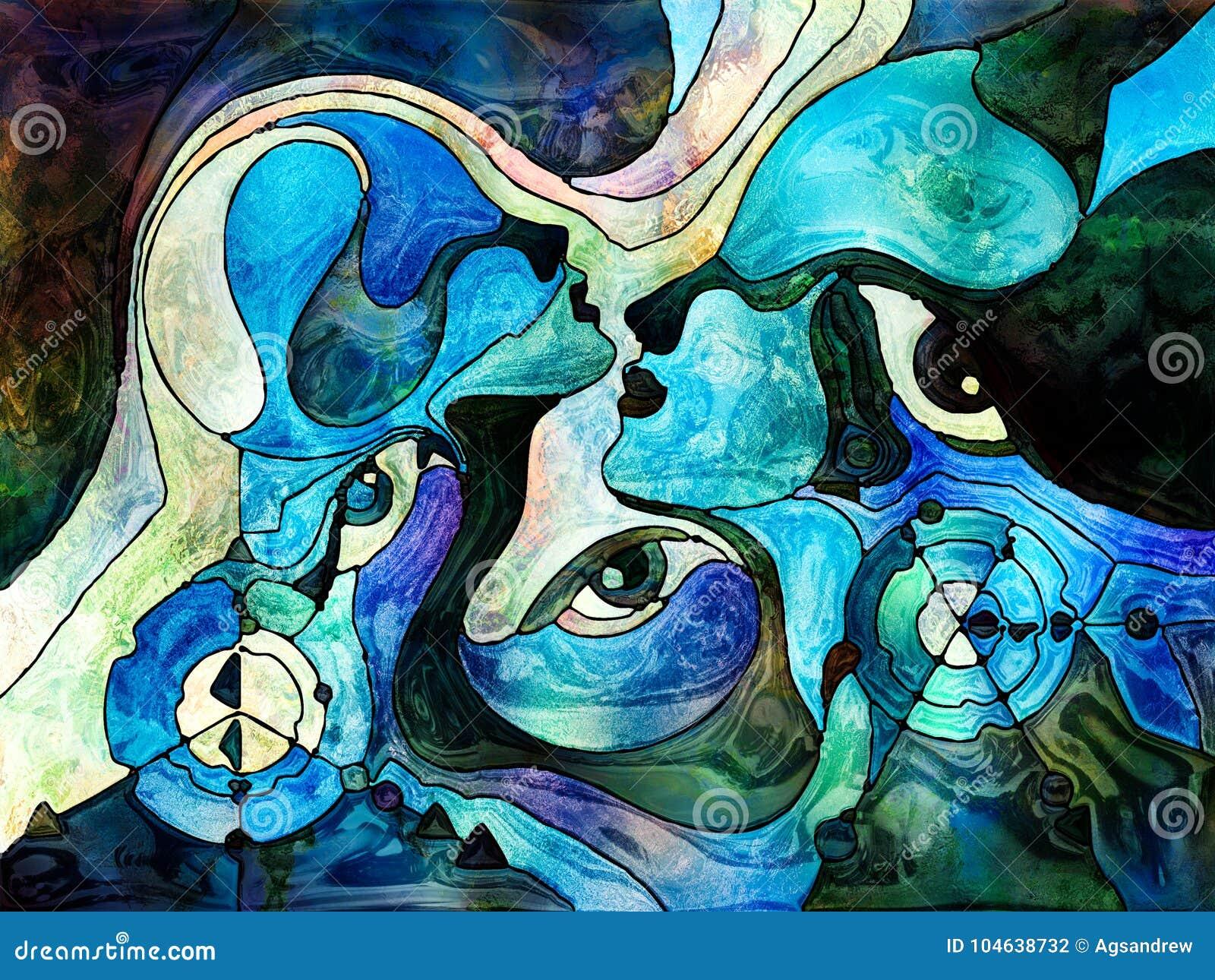 Download Energie Van Kleurenafdeling Stock Illustratie - Illustratie bestaande uit emotie, achtergrond: 104638732