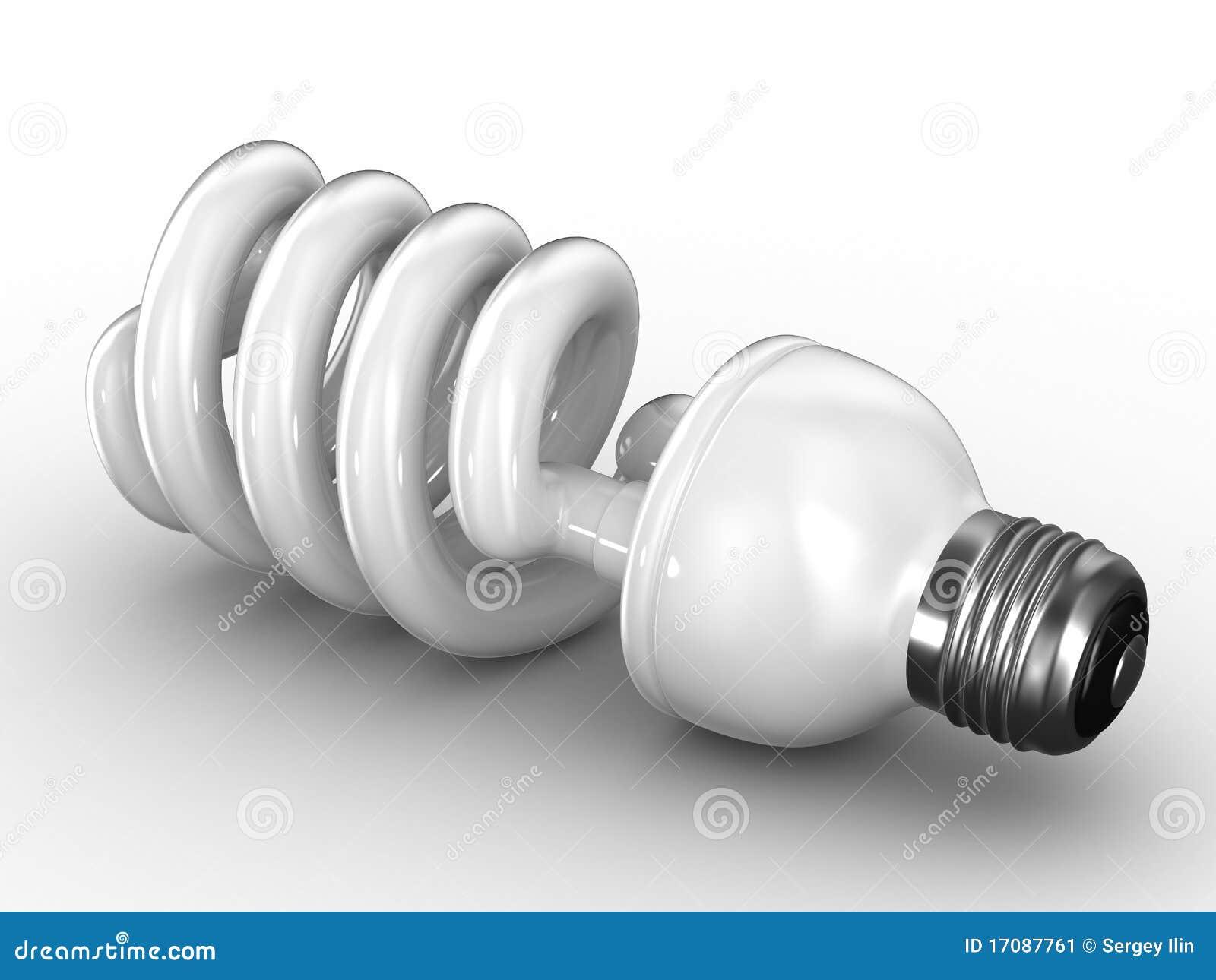 Energiesparender Fühler auf weißem Hintergrund