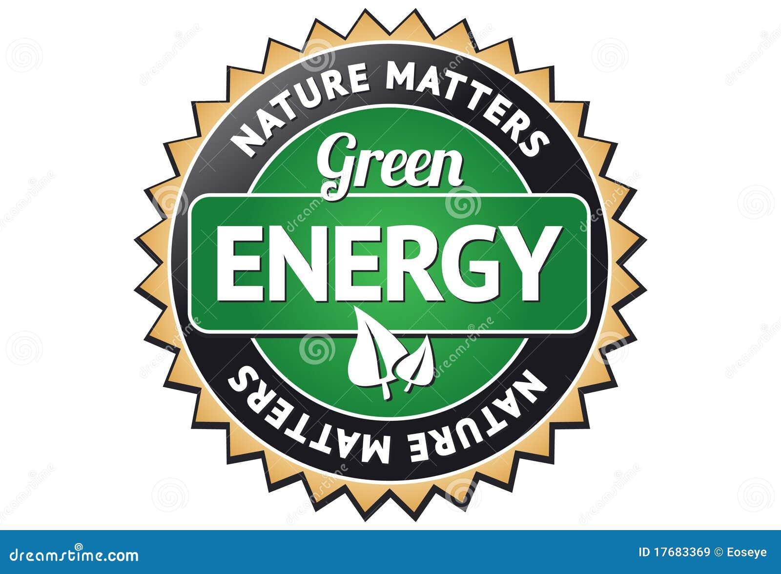 Energii zieleni etykietka