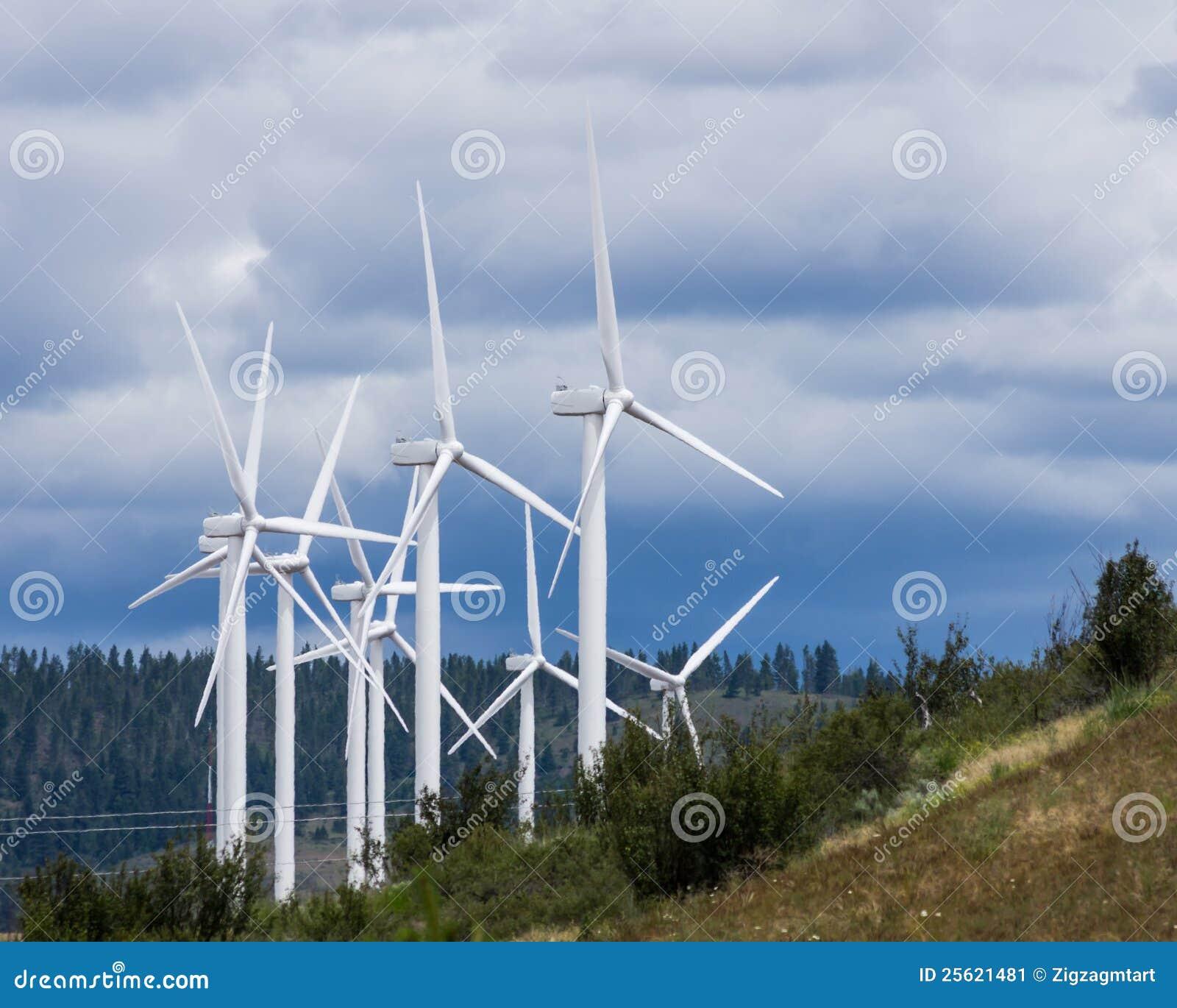Energii zieleni grupy turbina wiatr