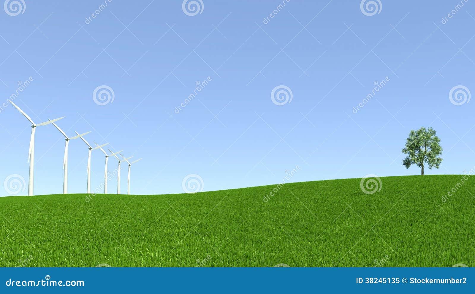 Energiresurser, vindturbin och ren miljö