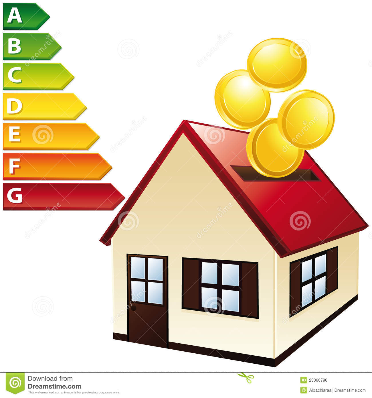 Charming Energy Balance Home. Budget Concept. Royalty Free Stock Image
