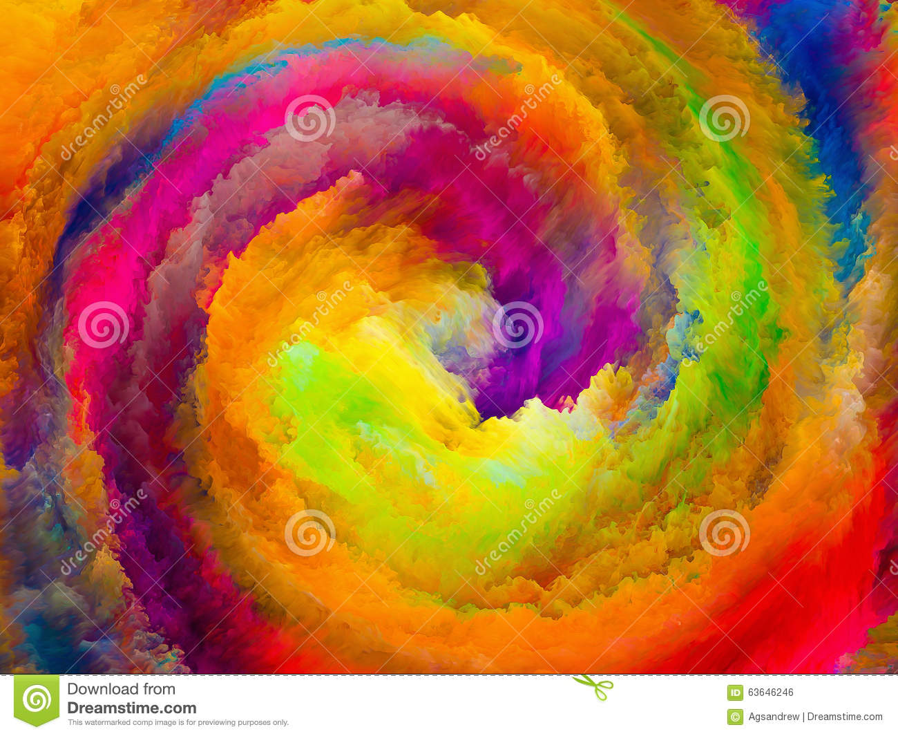 Energy Of Colors Stock Photo Image 63646246