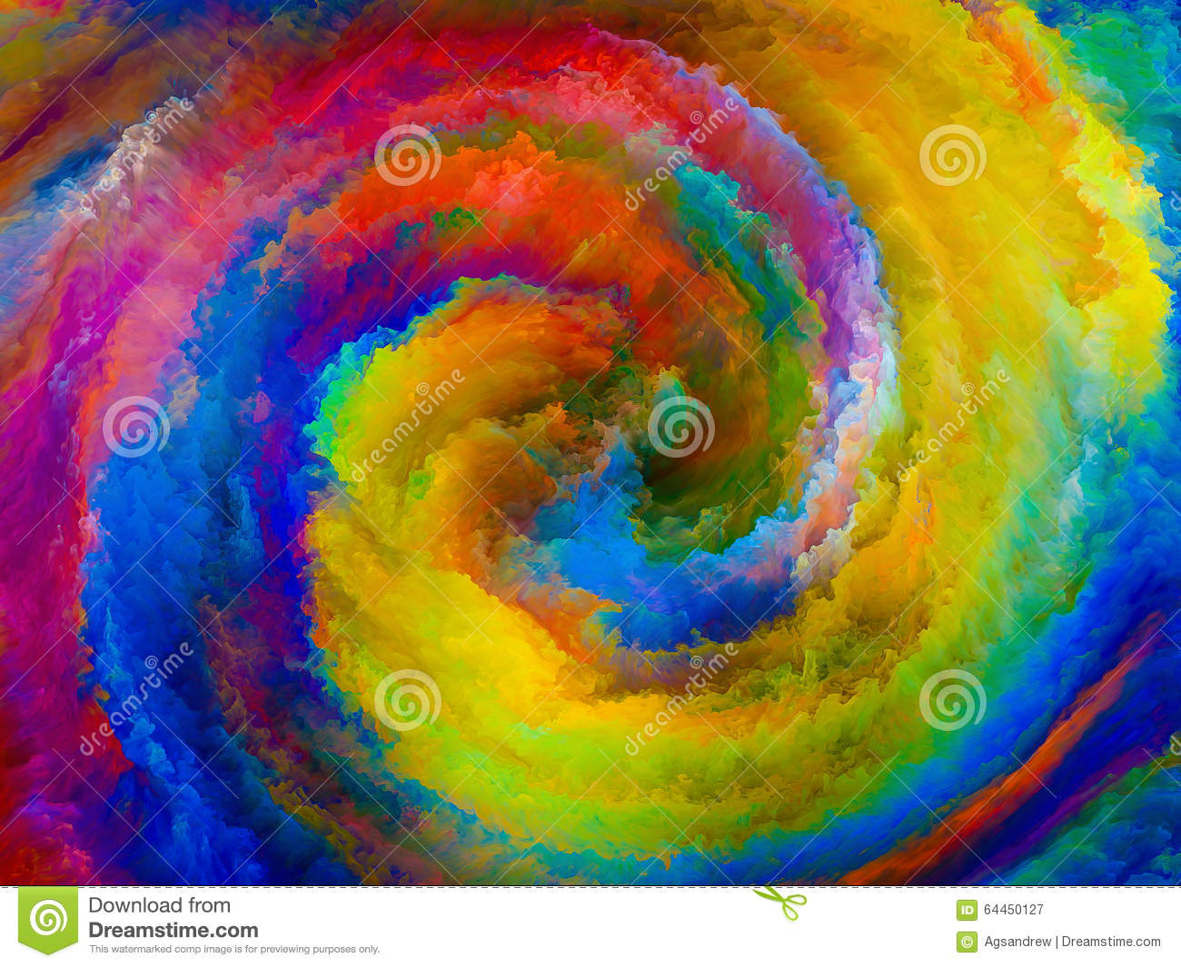 Energy Of Colors Stock Illustration Image 64450127