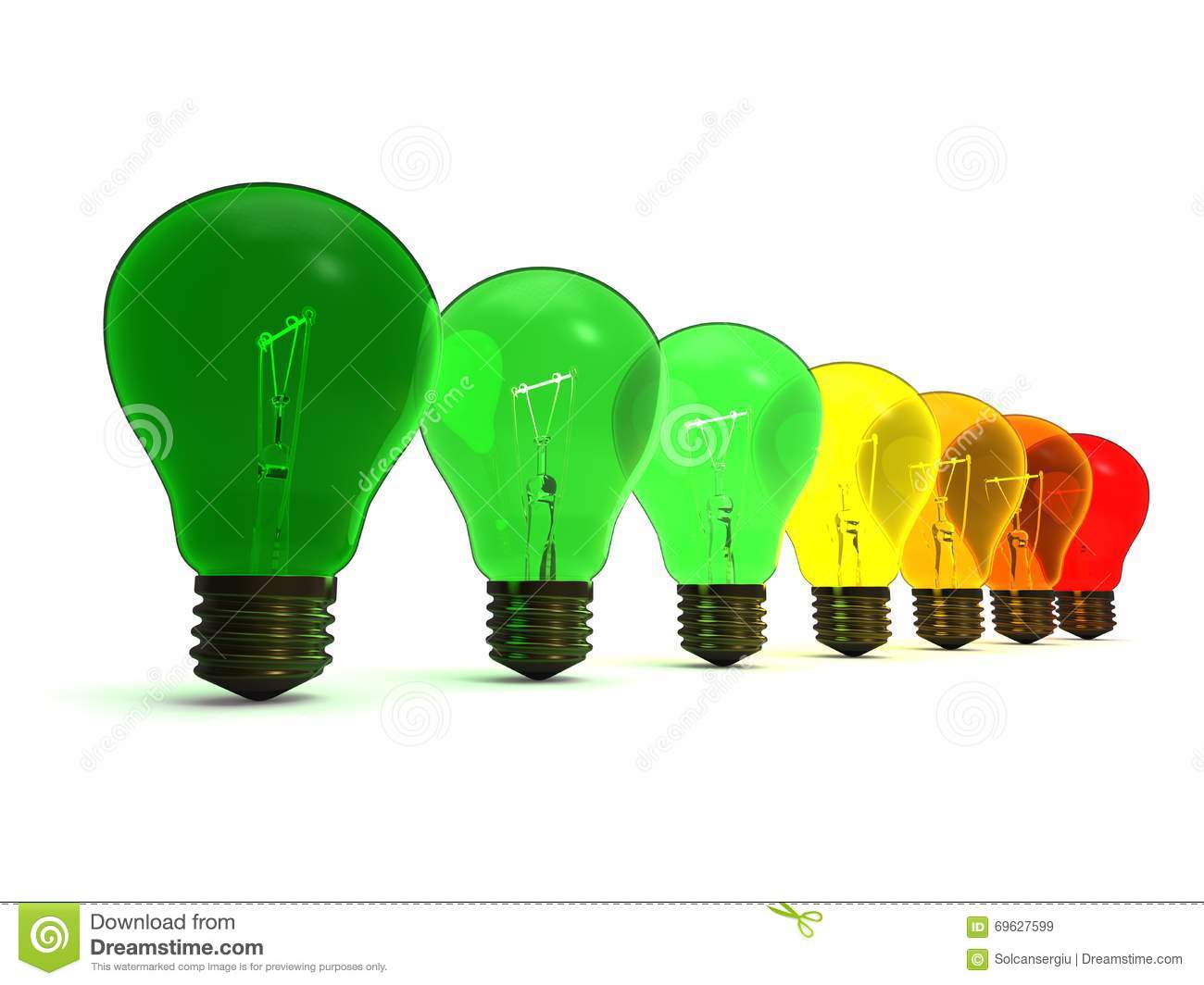 Energy Efficiencent Light Bulbs Concept Stock Illustration
