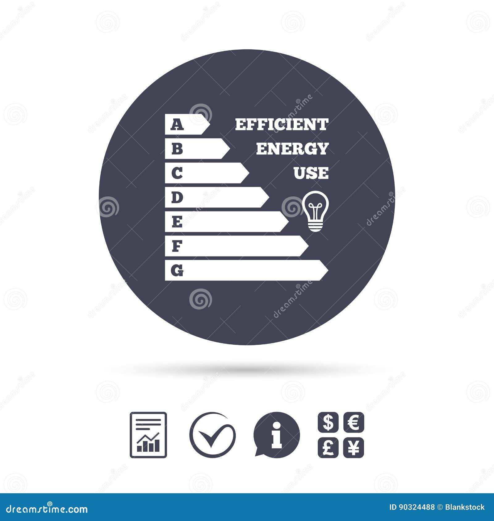 Energy Efficiency Icon Electricity Consumption Stock Vector