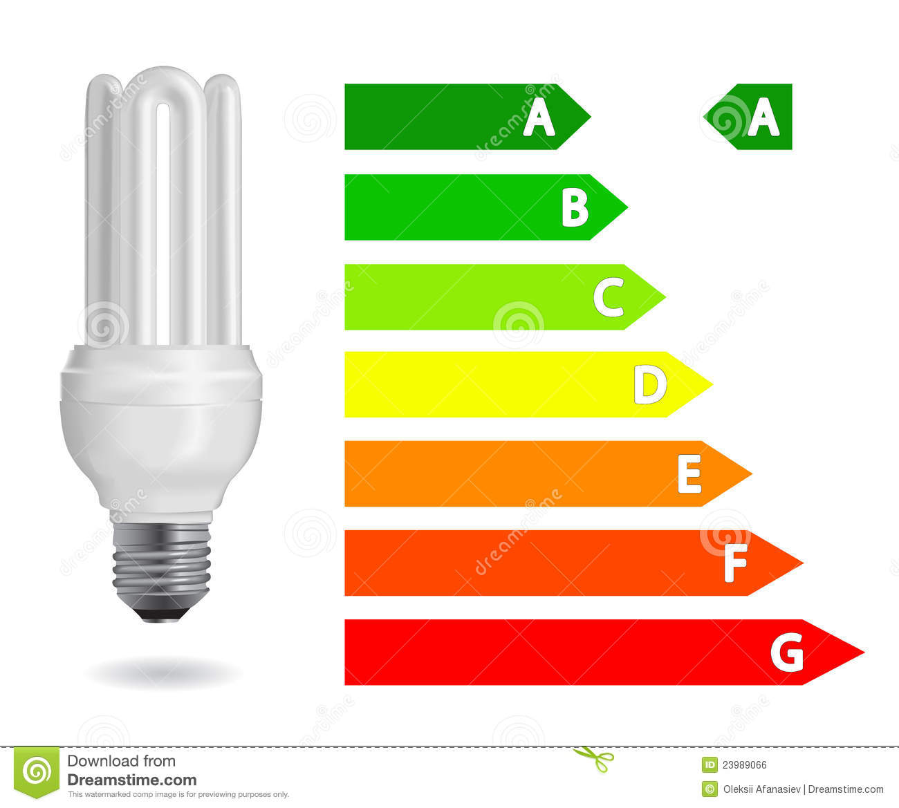 Energy Efficiency Light Bulb Stock Vector Image 23989066