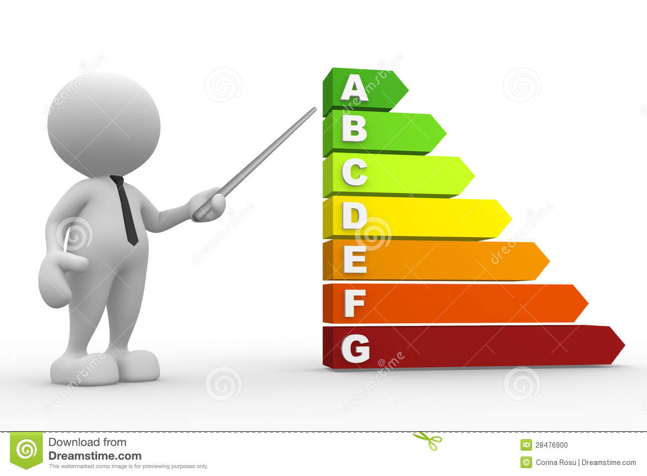 Energy Efficiency Rating Stock Photo - Image: 28476900