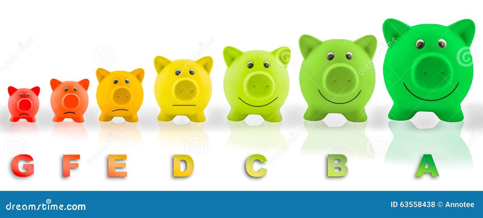 Energy efficiency rating pigs