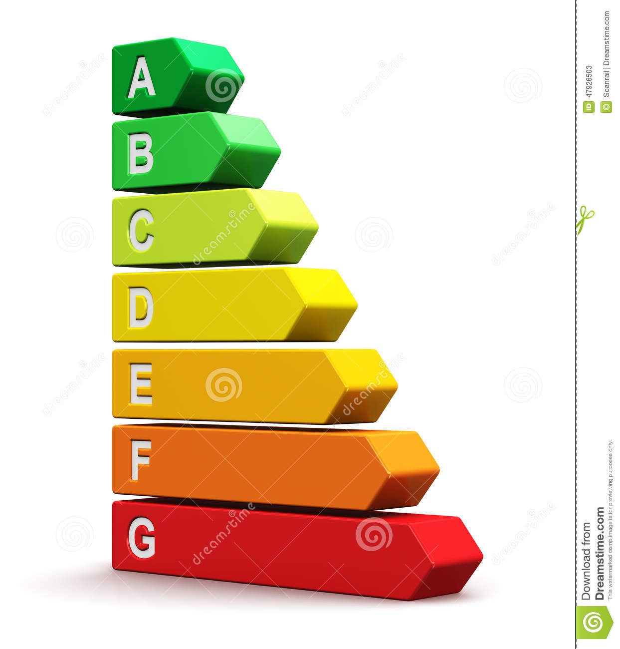 Energy Efficiency Rating Scale Stock Illustration