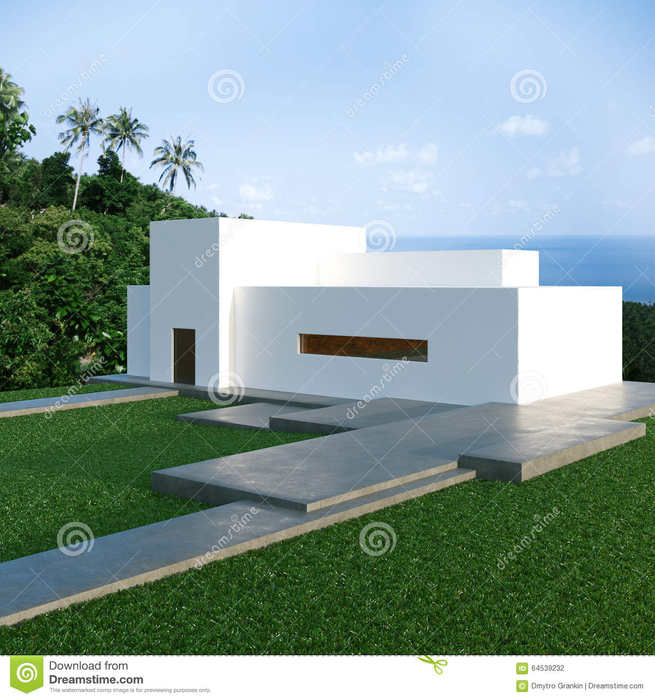Modern house on hill for Modern house on hill