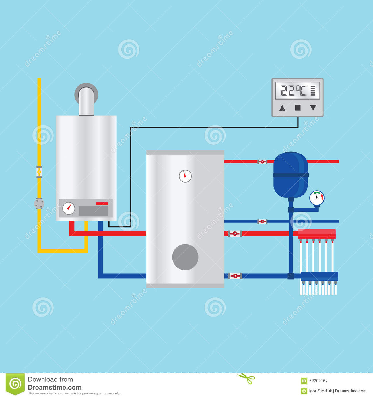 Energy efficient heating system with thermostat stock for What is the most economical heating system